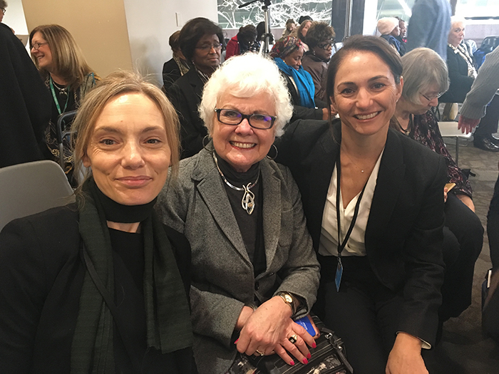 International Past President Alice Wells (centre) and Sonia on her right